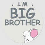 I may be little but I am the Big Brother Classic Round Sticker