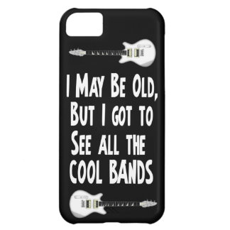 I may be old, cool bands! cover for iPhone 5C