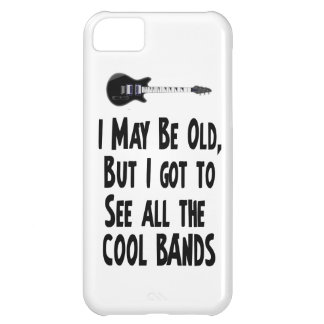 I may be old, cool bands! iPhone 5C case