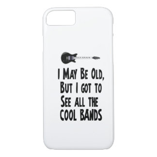 I may be old, cool bands! iPhone 8/7 case