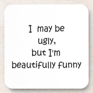 I may be ugly-cork coaster