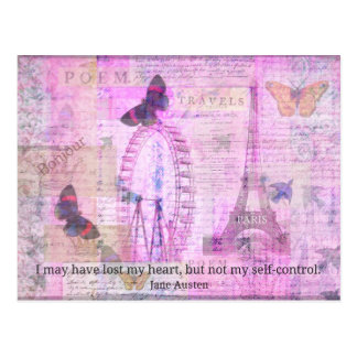 I may have lost my heart, but not my self-control postcard