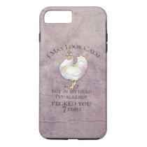 """""""I May Look Calm"""" Chicken iPhone 8 Plus/7 Plus Case"""