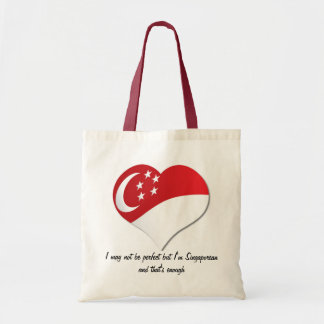 I may not be perfect but I'm Singaporean Tote Bag