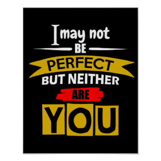 I May Not Be Perfect Poster