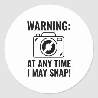 I May Snap Classic Round Sticker