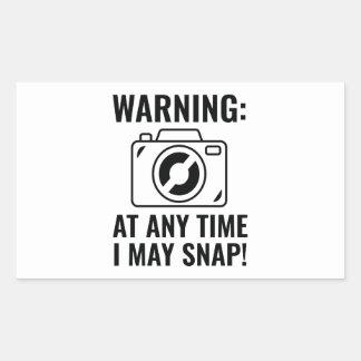 I May Snap Rectangular Sticker