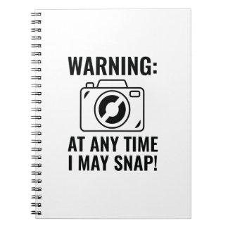 I May Snap Spiral Notebook