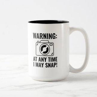 I May Snap Two-Tone Coffee Mug
