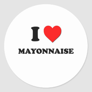I mayonesa del corazón pegatina redonda