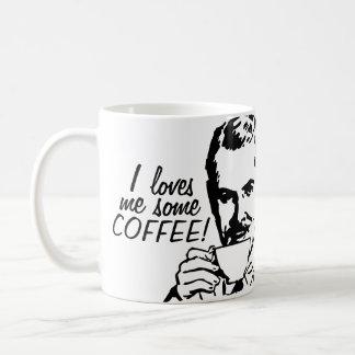 I me ama un poco de café taza clásica