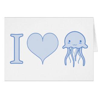 I medusas del corazón tarjeta de felicitación