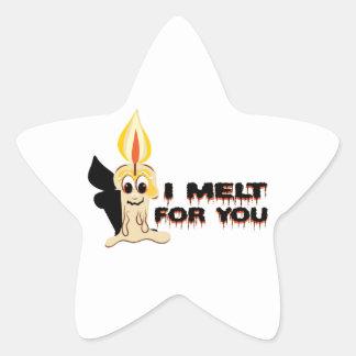 I Melt For You Star Sticker