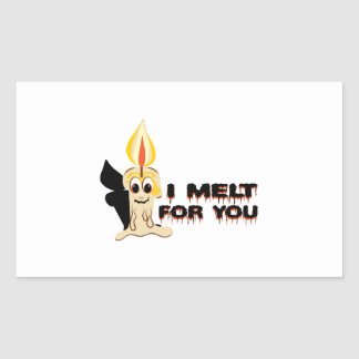 I Melt For You Rectangle Stickers