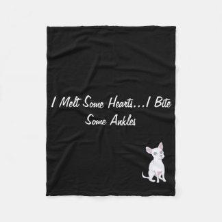 I Melt Some Hearts...I Bite Some Ankles Fleece Blanket