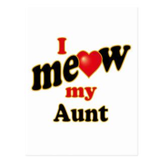 I Meow My Aunt Postcard