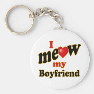 I Meow My Boyfriend Keychain