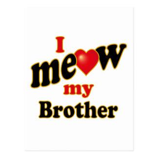 I Meow My Brother Postcard