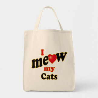 I Meow My Cats Tote Bag