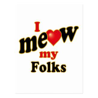 I Meow My Folks Postcard