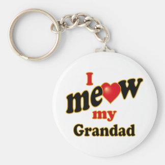 I Meow My Grandad Keychain