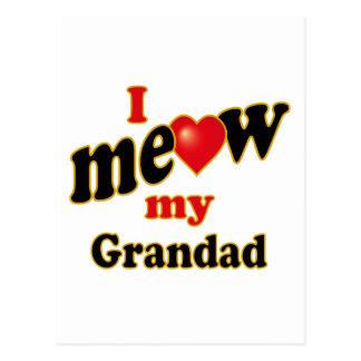 I Meow My Grandad Postcard