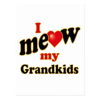 I Meow My Grandkids Postcard