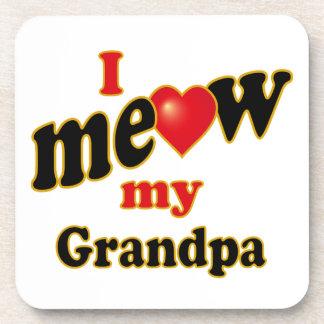I Meow My Grandpa Coaster