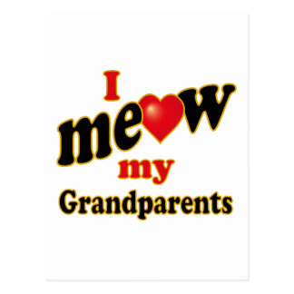 I Meow My Grandparents Postcard