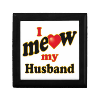 I Meow My Husband Keepsake Box
