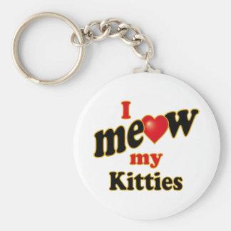 I Meow My Kitties Key Chain