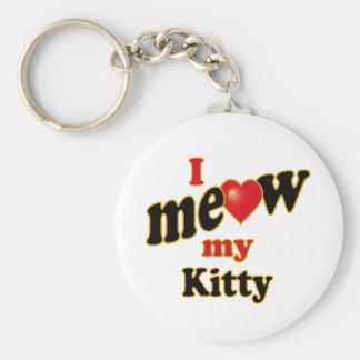 I Meow My Kitty Keychains