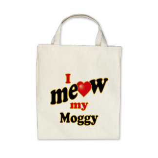 I Meow My Moggy Canvas Bag