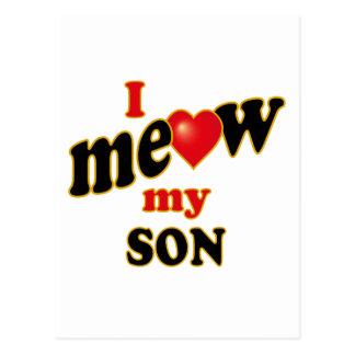 I Meow My Son Postcard
