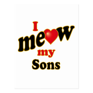 I Meow My Sons Postcard