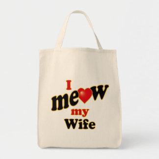 I Meow My Wife Tote Bag