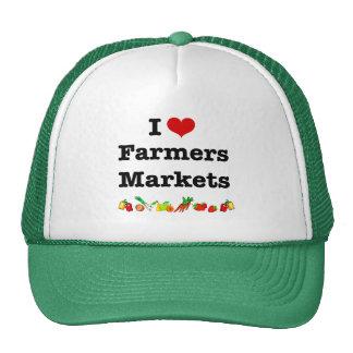 I mercados de los granjeros del corazón gorra
