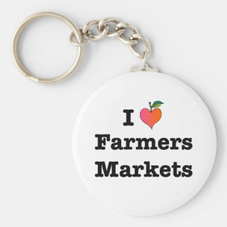 I mercados de los granjeros del corazón llavero personalizado