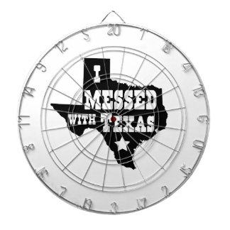 I Messed With Texas Dartboard