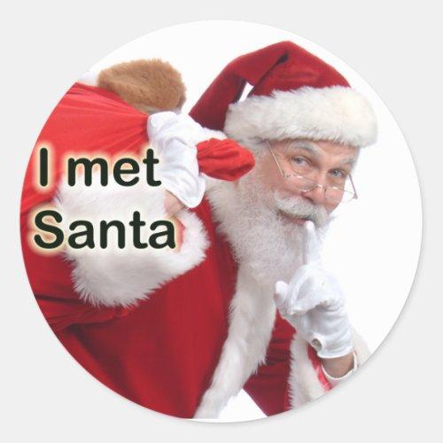 I Met Santa Classic Round Sticker