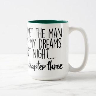 I Met the Man of My Dreams Last Night... Two-Tone Coffee Mug