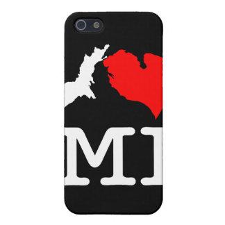 I ♥ MI (corazón Michigan) caja de iPod de I/del iP iPhone 5 Carcasas