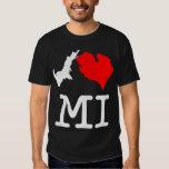I ♥ MI (I heart Michigan) dark, large print T-shirt