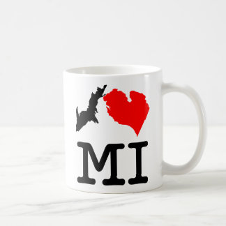 I ♥ MI (I heart Michigan) two-sided mug