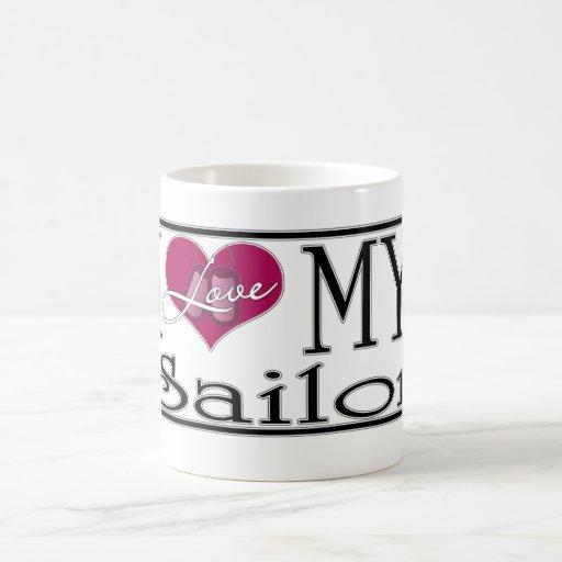 ♥ I mi marinero Taza De Café