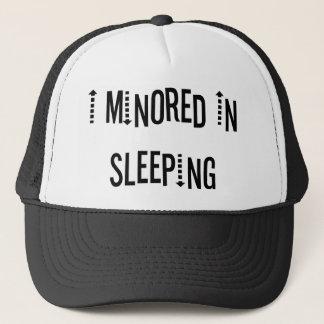 I Minored In Sleeping Trucker Hat