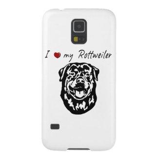 ¡❤ I mis palabras de Rottweiler y gráfico Fundas De Galaxy S5