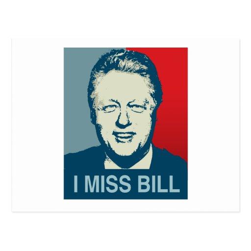 I MISS BILL.png Postcard