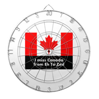 I miss Canada from Eh to Zed Dartboard