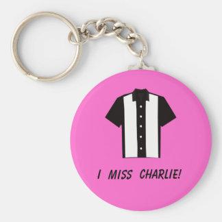 I miss Charlie keychain
